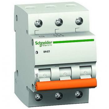 Выключатель автоматический Schneider ВА63 3П 25А