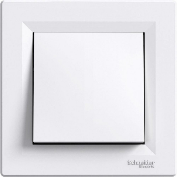 Выключатель Schneider Asfora (1кл., проходной/белый)