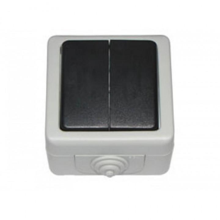 LUXEL Выключачель Debut  наружный 2 клав.