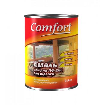 Комфорт эмаль ПФ-266 красно-коричневая 2,8кг