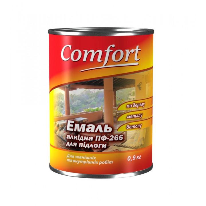 Комфорт емаль ПФ-266 червоно-коричнева 2,8 кг