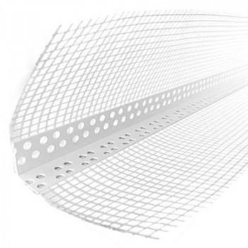 Уголок ПВХ перфорированный с сеткой 3м