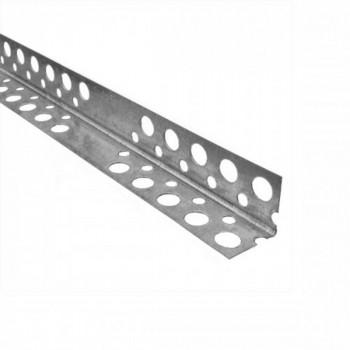 Уголок алюминиевый перфорированный 3м