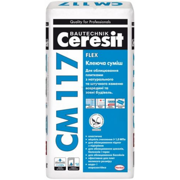 CERESIT СМ-117 White Клеюча суміш 25кг