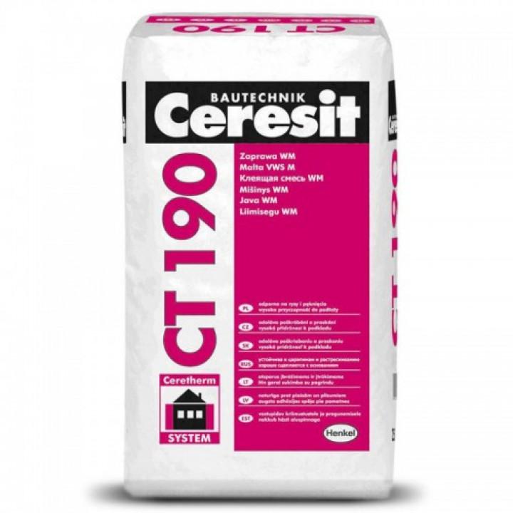 Клей для мінеральної вати CERESIT СТ-190 (25 кг)