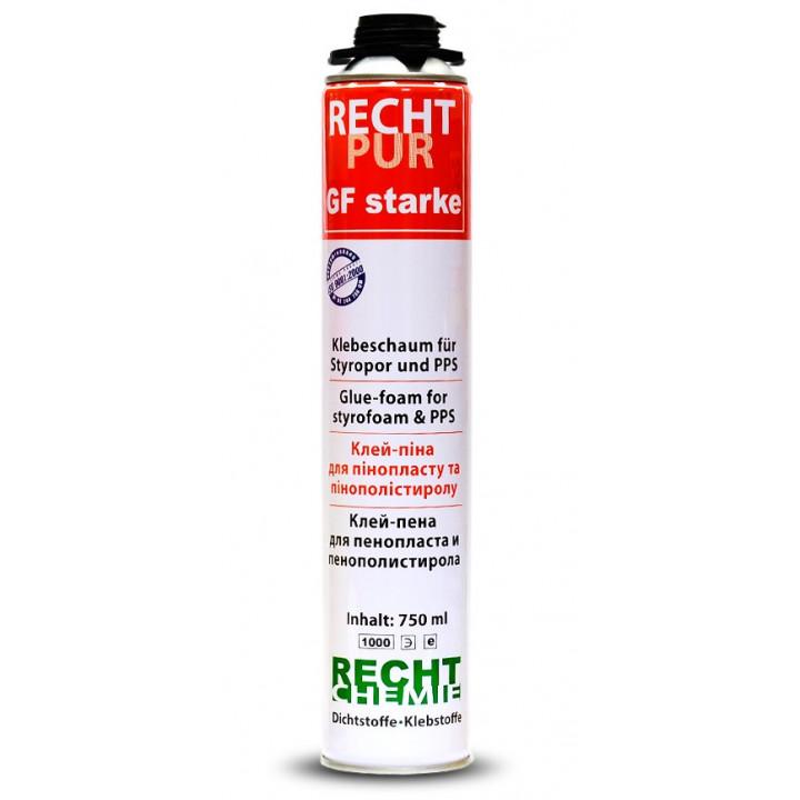 Піна-клей для пінопласту RECHT PRO GF 750 мл.