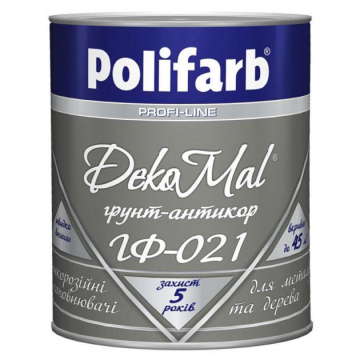 Грунтовка Polifarb DekoMal ГФ-021 ГОСТ (Полифарб) 0,9 кг/красно-коричневая