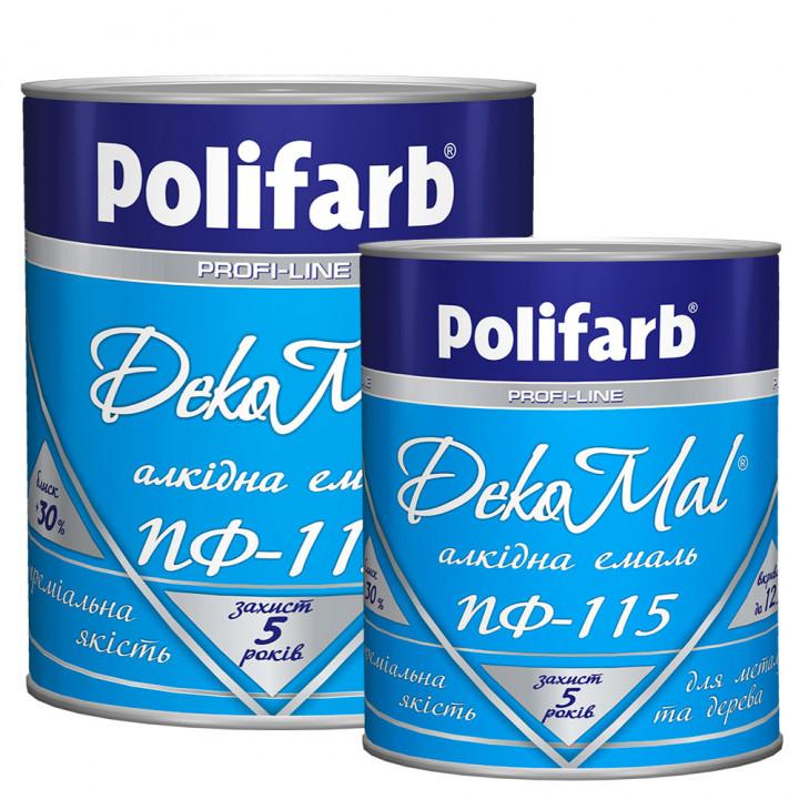 Эмаль алкидная Polifarb DekoMal ПФ-115 ГОСТ (Полифарб) (2,7 кг/желтая)
