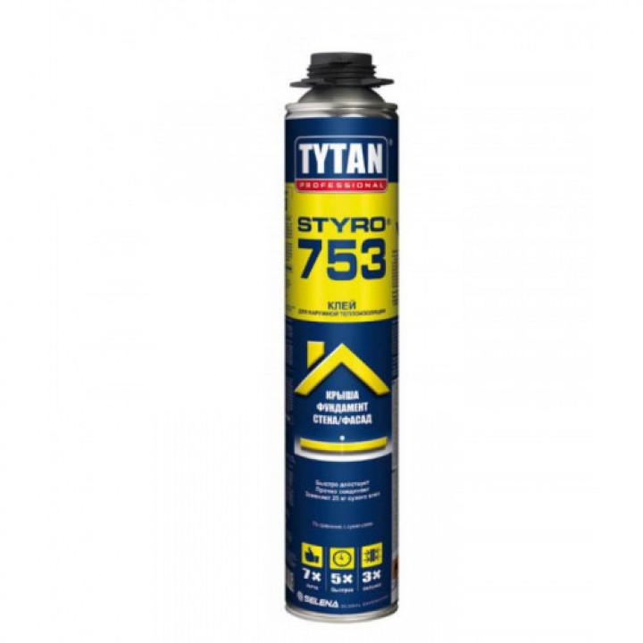 Пена-клей проф. Tytan О2 STYRO 753 GUN B3 (750мл)
