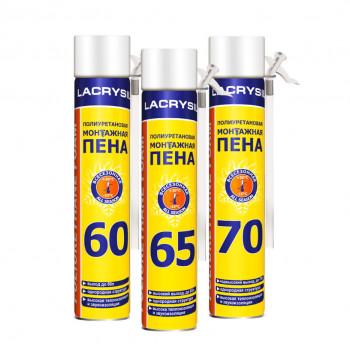 Пена монтажная ручная ЛАКРИСИЛ (Lacrysil) 70л./900гр.