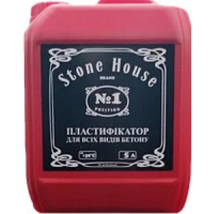 Пластифікатор для бетону та цементних розчинів STONEHOUSE (5л)