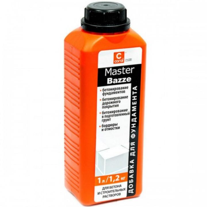 Пластифікатор для фундаменту Coral Master Bazze (1л)