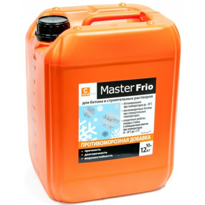 Пластификатор противоморозный Coral Master Frio (5л)