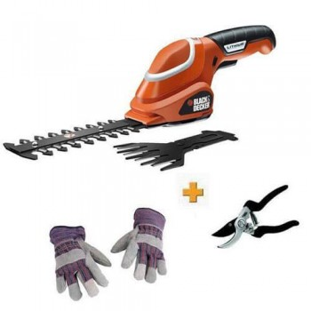 Кусторез-ножницы аккумуляторные BLACK+DECKER GSL700KIT