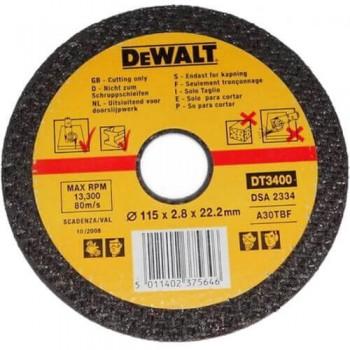 Круг отрезной по металлу 115мм DeWALT DT3400-QZ