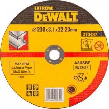 Круг отрезной по металлу 230х3.1мм DeWALT DT3487-QZ