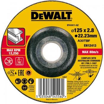 Круг отрезной по металлу 125 х 2.8 х 22.23 мм DeWALT DT43911
