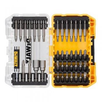 Набор бит 40 шт. с магнитным держателем бит и торцевыми головками в кейсе TOUGH CASE системы TSTAK DeWALT DT70705