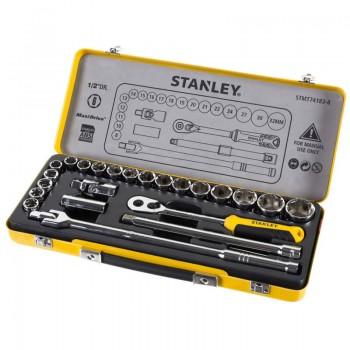 Набор головок торцевых 1/2″ 24 предмета, в металлическом кейсе. STANLEY STMT74183-8