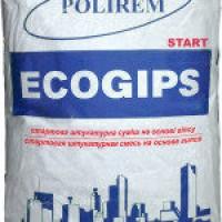 Штукатурка POLIREM Ecogips start 30кг