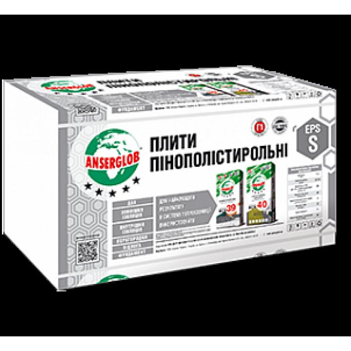 Ансерглоб Пенопласт М-25 100мм 1*1м EPS-S
