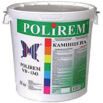 "POLIREM 1343 Штукатурка акриловая декоративная ""камешковая"" (зерно 1,5 мм) (25 кг)"
