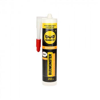 Силиконовый герметик санитарный BUDMONSTER белый (260 мл)