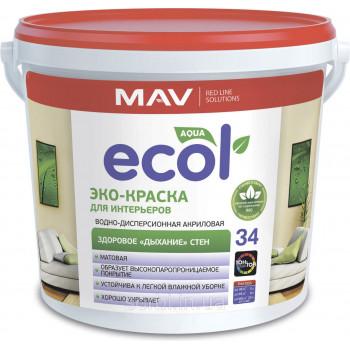 MAV ECOL 34 эко-краска для интерьеров 11л (14 кг)