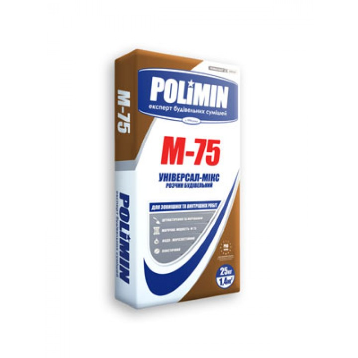 Будівельний розчин Полімін М-75 (25кг)