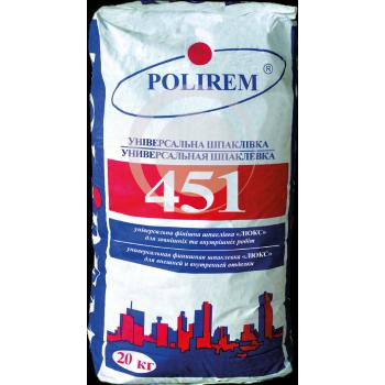 POLIREM 451 Шпаклевка цементная финишная белая, 20 кг