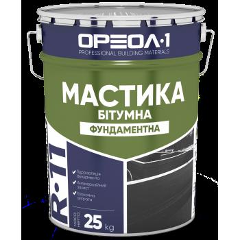 ОРЕОЛ-1 МАСТИКА БИТУМНАЯ (ГИДРОИЗОЛЯЦИЯ ФУНДАМЕНТА), 25 КГ