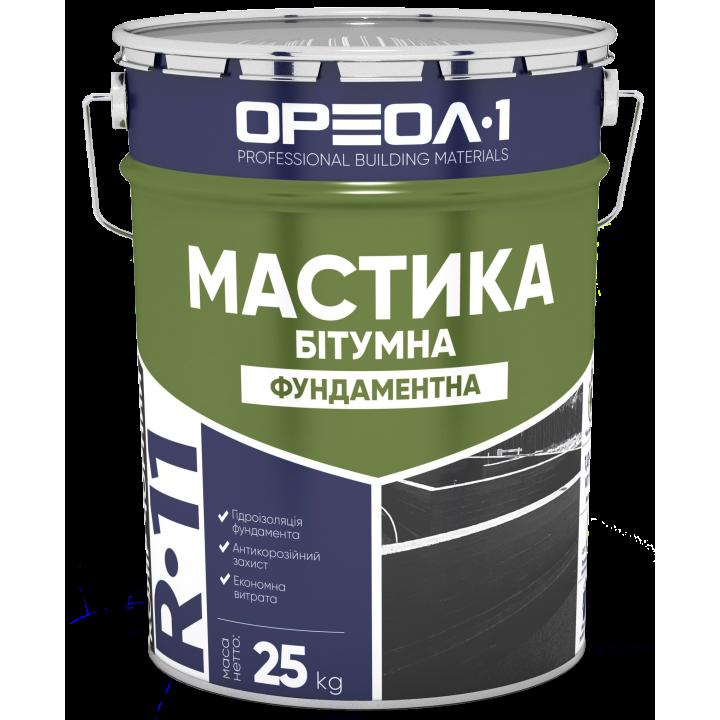 ОРЕОЛ-1 МАСТИКА БИТУМНАЯ (ГИДРОИЗОЛЯЦИЯ ФУНДАМЕНТА), 18 КГ