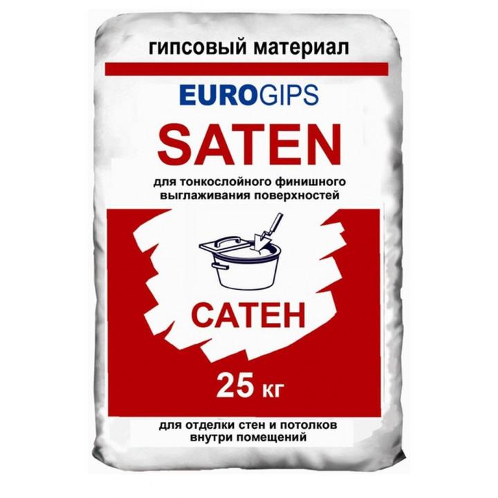 Шпаклевка Satengips (Сатенгипс) Еврогипс финишная, 25 кг