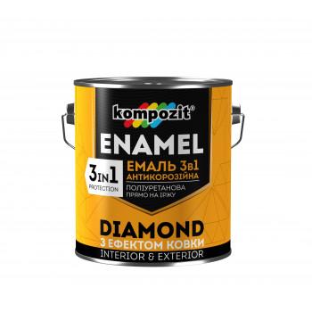 """Эмаль антикоррозионная 3 в 1 DIAMOND """"Kompozit"""" (0.65л/представлена в разных цветах)"""
