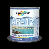 """Краска для бассейнов АК-12 """"Kompozit"""" (0.9кг)"""