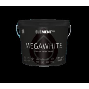 Element PRO MEGAWHITE Краска интерьерная матовая ультрабелая (10л)