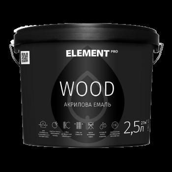 Element PRO WOOD Эмаль для деревянных изделий акриловая (2,5 л)