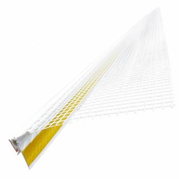 Профиль оконный примыкающий ПВХ с сеткой (2.5 м.)