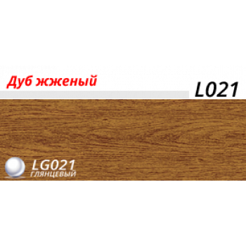 Пластиковый плинтус LINE PLAST Дуб жженый L021 (2.5 м)