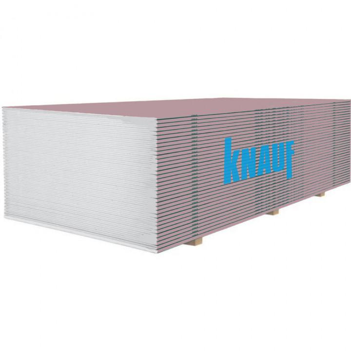 Гіпсокартон стіновий вогнетривкий KNAUF (12,5мм/2,5м)