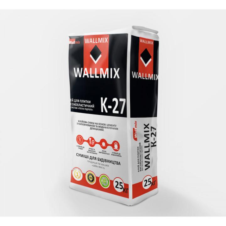 Клей для плитки вісокоеластічній Wallmix К-27 (25кг.)