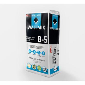 Клей для кладки и шпаклевки пористых блоков Wallmix В-5 (25кг.)